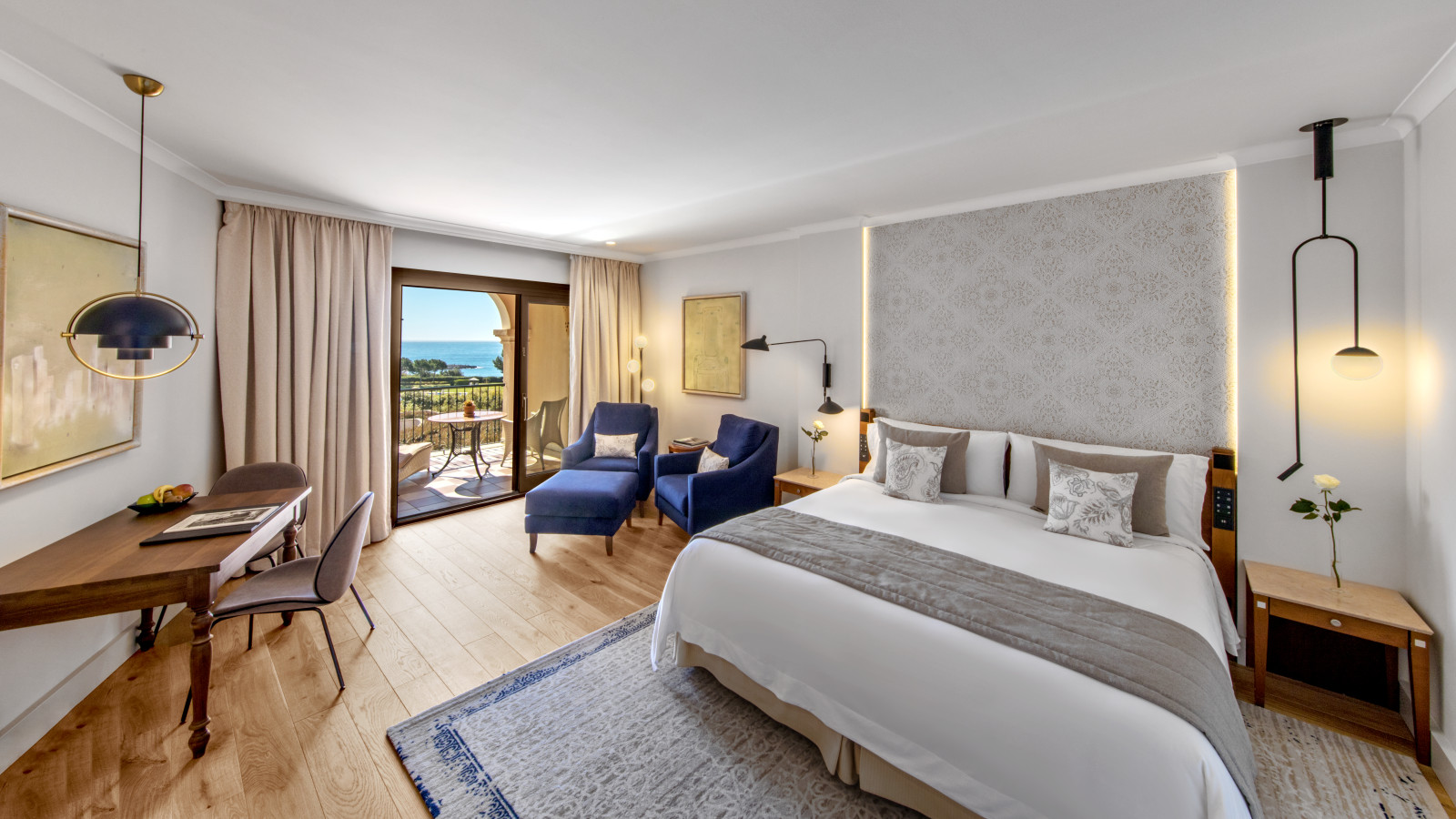 New Grand Deluxe Room with Sea View at the luxury Resort St. Regis Mardavall Mallorca Resort