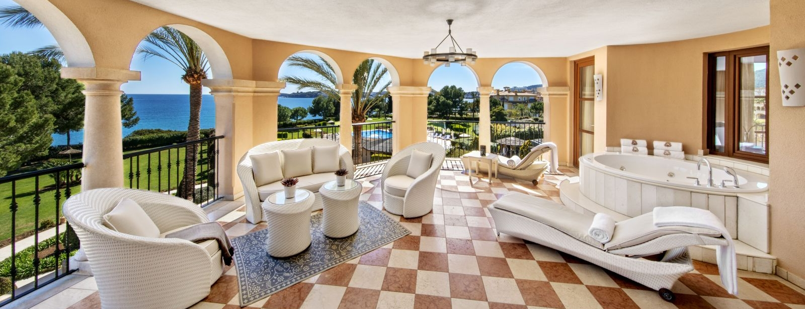 Newly refurbished Diamond Suite with private outdoor terrace at the St. Regis Mardavall Mallorca Resort